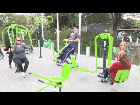 Saúde na terceira idade: academia ao ar livre faz sucesso em Friburgo