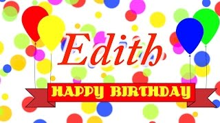 Happy Birthday Edith Song