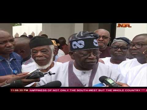 Afenifere Delegation Congratulates Buhari on his Re-election