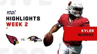 Every Kyler Murray Play vs. Ravens | NFL 2019 Highlights