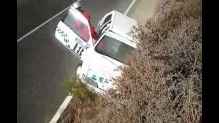 preview picture of video 'II cronometrada rally villa de nijar 2012 accidente'