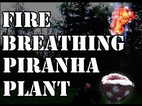 Homemade Piranha Plant From Super Mario With A Twist: It Breathes Fire