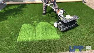 Turf Tips | Power Brooming the Turf