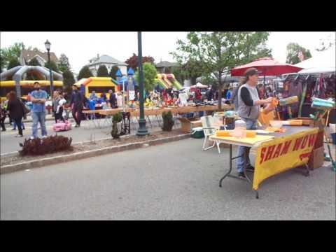 Video Maywood Street Fair, Maywood NJ Flea Market Set Up - 4/30/17