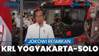 KRL Yogyakarta-Solo Resmi Beroperasi, Presiden Jokowi: Kereta Cepat dan Ramah Lingkungan