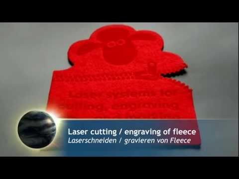 Laser cutting and engraving of fleece | Laser cutting and engraving