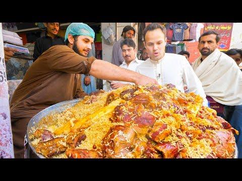 Street Food in Peshawar - GOLDEN PULAO Mountain + Charsi Tikka Kabab + Pakistani Street Food Tour!