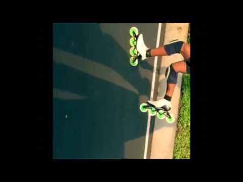 Inline Skate Double Push technique Slow Motion , Shakthi