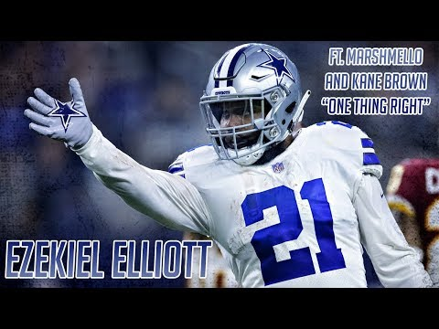 "Ezekiel Elliott ft. Marshmello and Kane Brown ""One Thing Right"" Career Highlights"