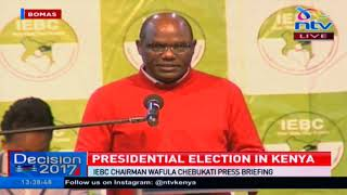 -IEBC officials release numbers in Forms 34B - VIDEO