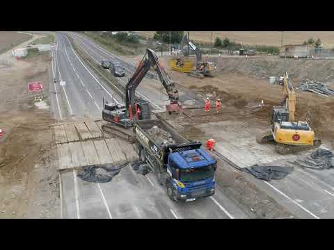 A13 widening: Saffron Gardens bridge demolition