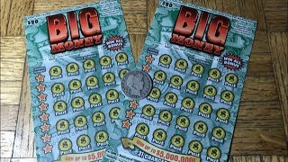 Pair Of BIG MONEY California Lottery Scratcher Tickets