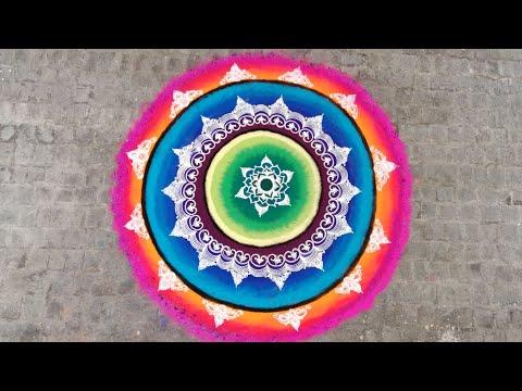 mandala rangoli design colorful and creative by ganesh vedpathak
