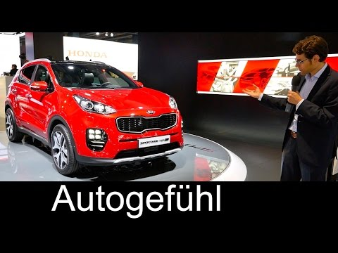 Kia Sportage 2016 all-new generation Review Exterior/Interior at Frankfurt motor show