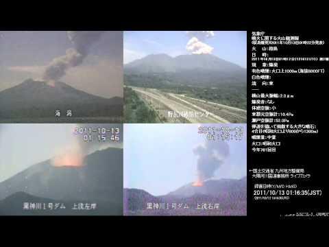 Impresionante erupción del volcán Sakurajima, Japón
