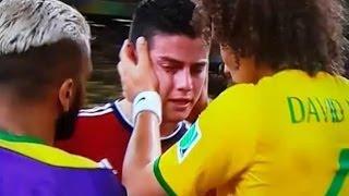 号泣するハメス・ロドリゲスをダビド・ルイスとダニエウ・アウヴェスが優しく抱きしめるシーンに感動!こちらまで涙が・・・ユニフォーム交換も素敵すぎる!