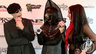 APMAs 2016 Red Carpet MARILYN MANSON & TWIGGY RAMIREZ