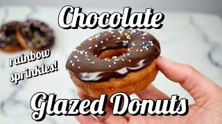 How To Make Chocolate Glazed DOUGHNUTS