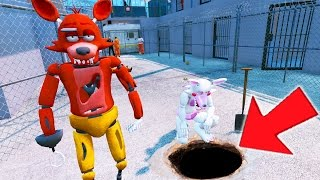FOXY & MANGLE BREAK OUT OF MAXIMUM PRISON! (GTA 5 Mods For Kids FNAF Funny Moments)