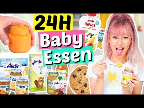 24 Stunden nur BABY NAHRUNG essen 👶🏻  ViktoriaSarina