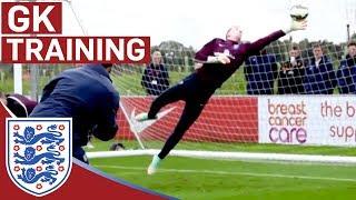 Joe Hart & goalie reactions training | Inside Training