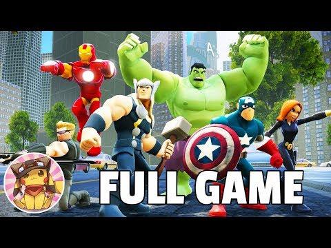 THE AVENGERS Marvel Super Heroes - Full Game Walkthrough [1080p] Disney Infinity 2.0