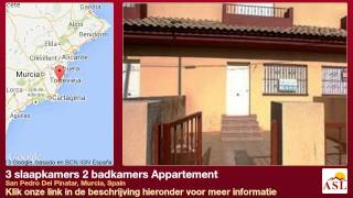preview picture of video '3 slaapkamers 2 badkamers Appartement te Koop in San Pedro Del Pinatar, Murcia, Spain'