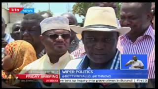 Friday Briefing: Wiper Democratic Party leader Kalonzo Musyoka takes his bait to the coast region