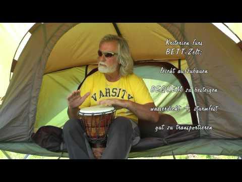 (9) Draußen sein - FREI sein - AKTIV sein: das Feldbett-ZELT - Westerwald 2012