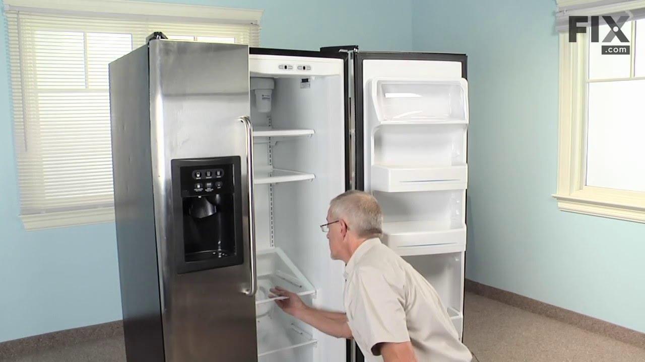 Replacing your General Electric Refrigerator Drawer Slide Rail - Left Side