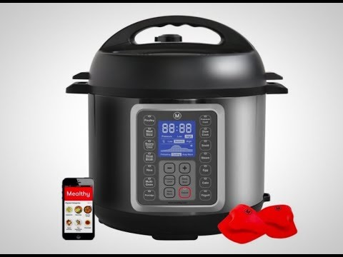 , Mealthy MultiPot 9-in-1 Programmable Pressure Cooker 6 Quarts with Stainless Steel Pot