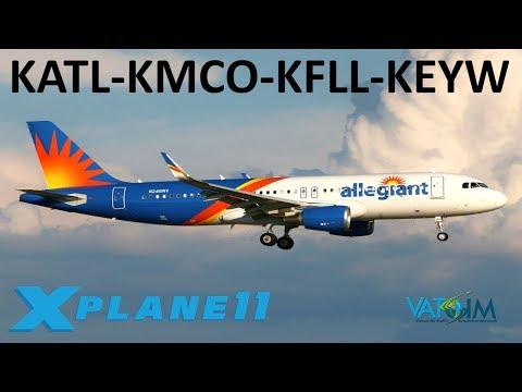X-Plane 11   Orlando, Fort Lauderdale & Key West!   N A Hops