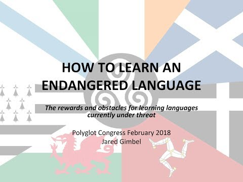 My Talk on How to Learn an Endangered Language at the February 2018 Online Polyglot Conference.