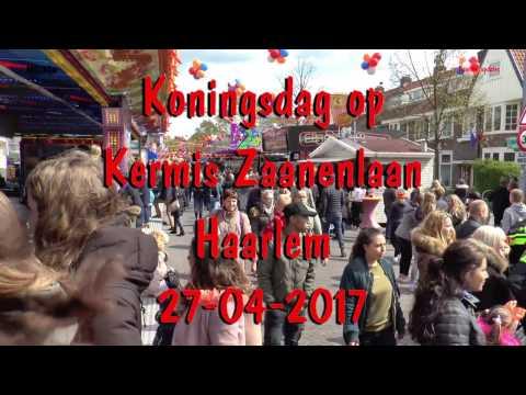Koningsdag op kermis Zaanenlaan Haarlem