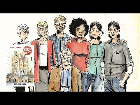 Royal City Volume 1 - Segredos em família?de Jeff Lemire ?comentando e mostrando