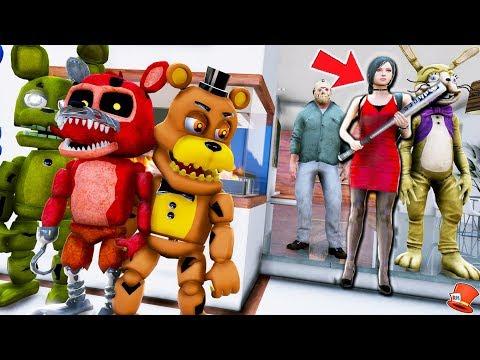 Download Fnaf World Vs The Babysitter Gta 5 Mods Fnaf Redhatter