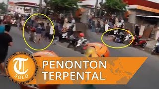 Viral Video Balap Liar Diduga di Sidoarjo, Joki Menabrak Penonton hingga Terpental