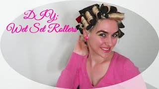 How To Make Wet Set Hair Rollers At Home | DIY Hair Curlers