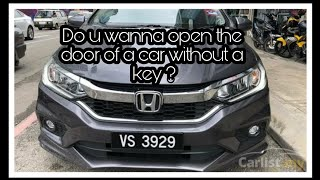 Open car door without key ! centralized locking system