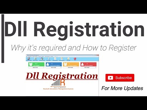 How to register dll in Realsoft Attendance Management