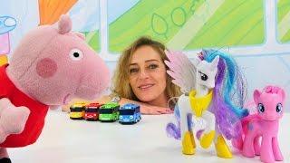 Wir zählen Spielsachen mit Peppa Wutz.