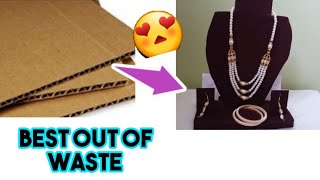 How To Make Bangle Box With Waste Shoebox | Best Out Of Waste | DIY Jewellery Organizer|masterarts