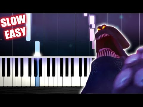 Kraken Song - Hotel Transylvania 3 - SLOW EASY Piano Tutorial by PlutaX