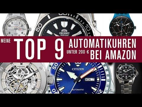 Uhren unter 200€ bei AMAZON! Automatik - Meine TOP 9