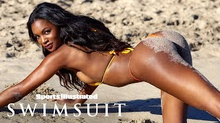 Jasmyn Wilkins Gets A Little Dirty On The Beaches Of Nevis | Intimates | Sports Illustrated Swimsuit