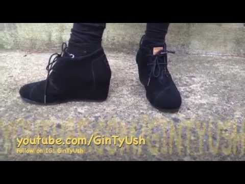 TOMS Desert Wedge Black Suede Review