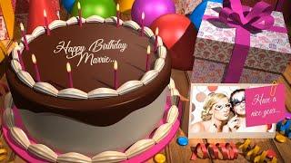 I will Create Happy Birthday Cake Video