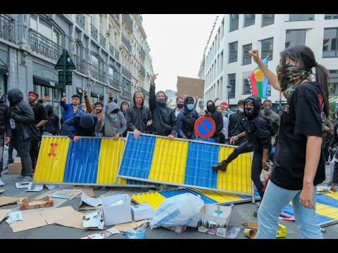 Demonstraties Antifa en over George de pornoacteur etc