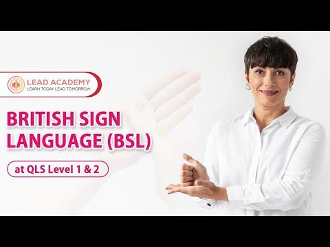 British Sign Language | Online Course | Lead Academy