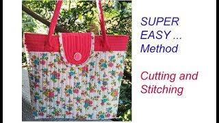 10 मिनट Cutting Stitching Of Handmade Handbag /shopping Bag /shoulder Bag